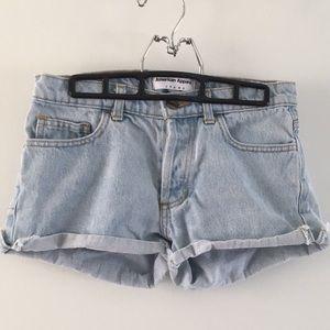 American Apparel Light wash Denim Shorts